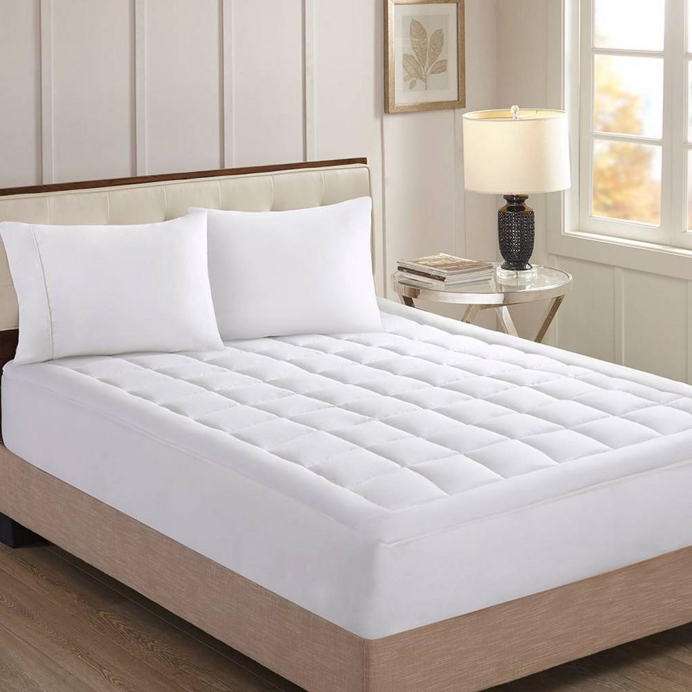 Norwalk Luxury Collection 1000tc Cotton Mattress Pad King White