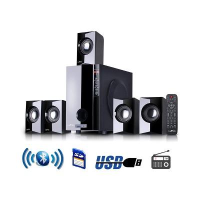 beFree Sound 5.1 Channel Bluetooth Surround Sound Speaker System in Black
