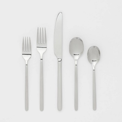 20pc Stainless Steel Silverware Set - Room Essentials™