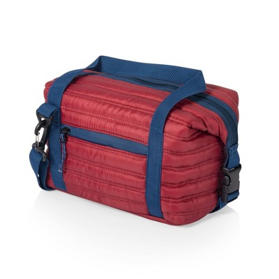 Oniva Midday Quilted Washable Insulated Lunch Bag - Red