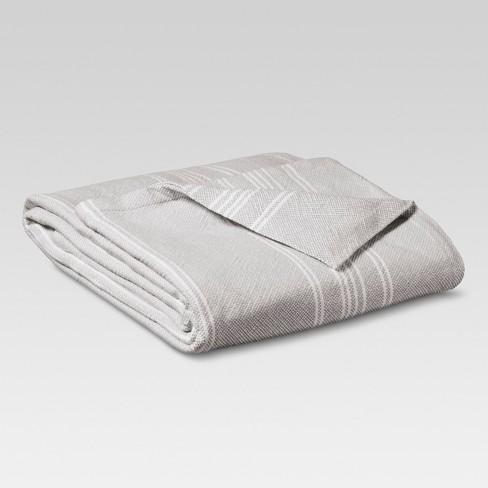 Yarn Dye Stripe Ringspun Cotton Bed Blanket - Threshold™ - image 1 of 1