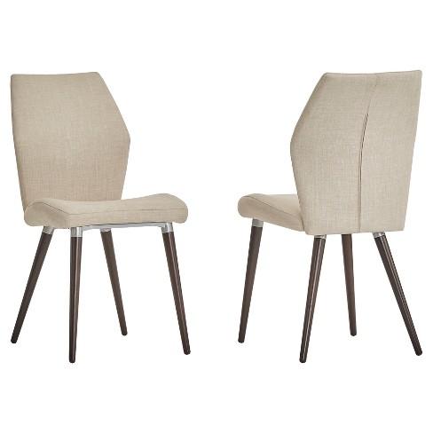 Winona Espresso Mid Century Angled Chair 2 in Set - Inspire Q® - image 1 of 3