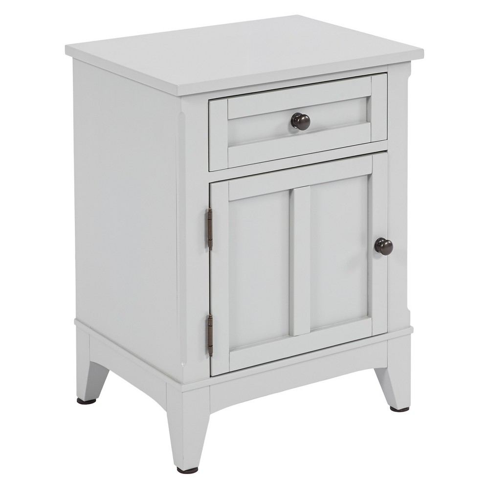 Standing Room Only - 1 Door/1 Drawer Nightstand - Gray - Progressive Furniture, Lt Gray