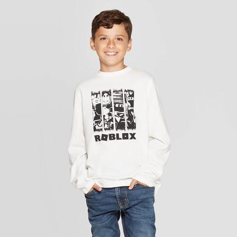 Boys' Roblox Long Sleeve T-Shirt - White - image 1 of 3