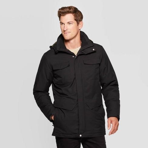 Men's Ski Parka Winter Coat - Goodfellow & Co™ Black - image 1 of 2