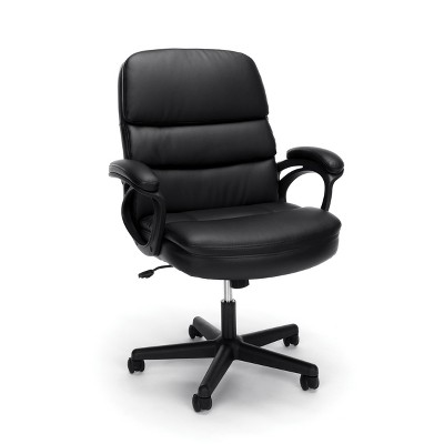 Executive Leather Managers Chair Black - OFM