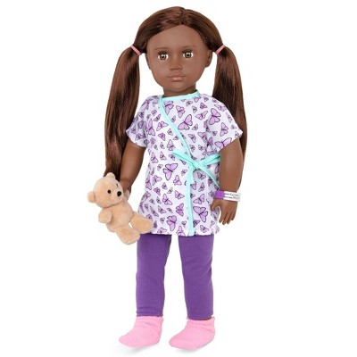 """Our Generation 18"""" Hospital Doll with Gown - Karissa"""