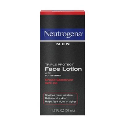 Neutrogena Triple Protect Men's Face Lotion - SPF 20 - 1.7 fl oz