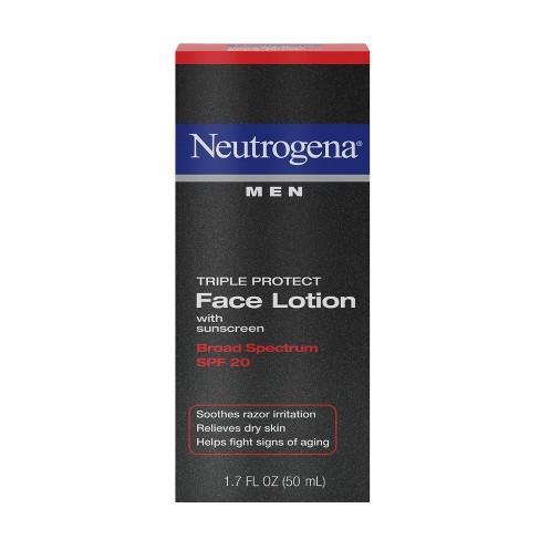 Neutrogena Triple Protect Men's Face Lotion - SPF 20 - 1.7 fl oz - image 1 of 4
