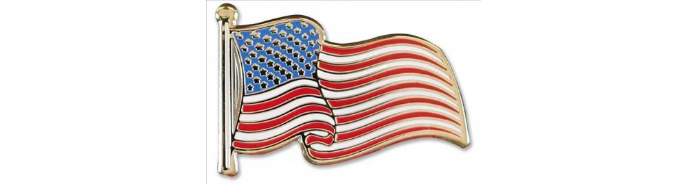 Target USA Flag Hard Enamel Cloisonne Pin Set (Accessory)