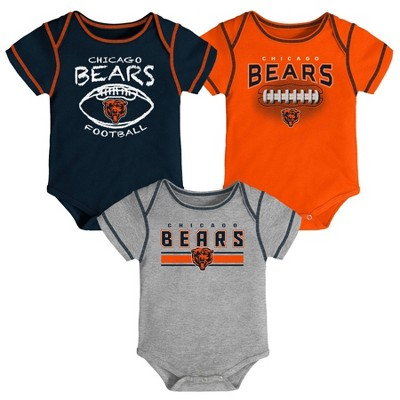 NFL Chicago Bears Baby Boys' Bodysuit Set 3pk - 3-6M
