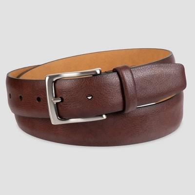 Men's 35mm Feather Edge Pebble Belt - Goodfellow & Co™ Brown