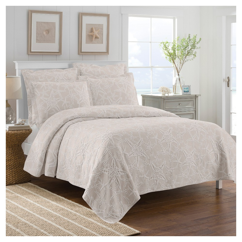 Taupe (Brown) Calypso Coverlet (Full/Queen) - LaMont Home
