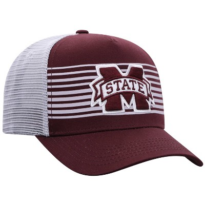 NCAA Mississippi State Bulldogs Men's Striped with Hard Mesh Snapback Hat