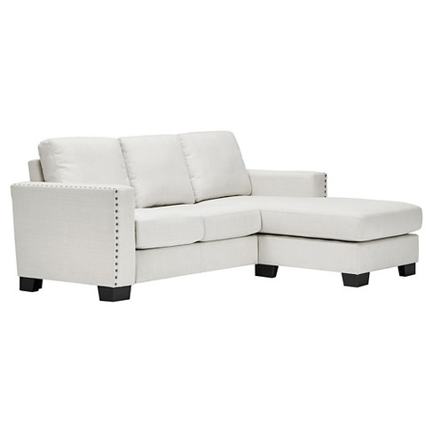 Carnegie Hill Nailhead Chaise Loveseat Sectional White - Inspire Q - image 1 of 5