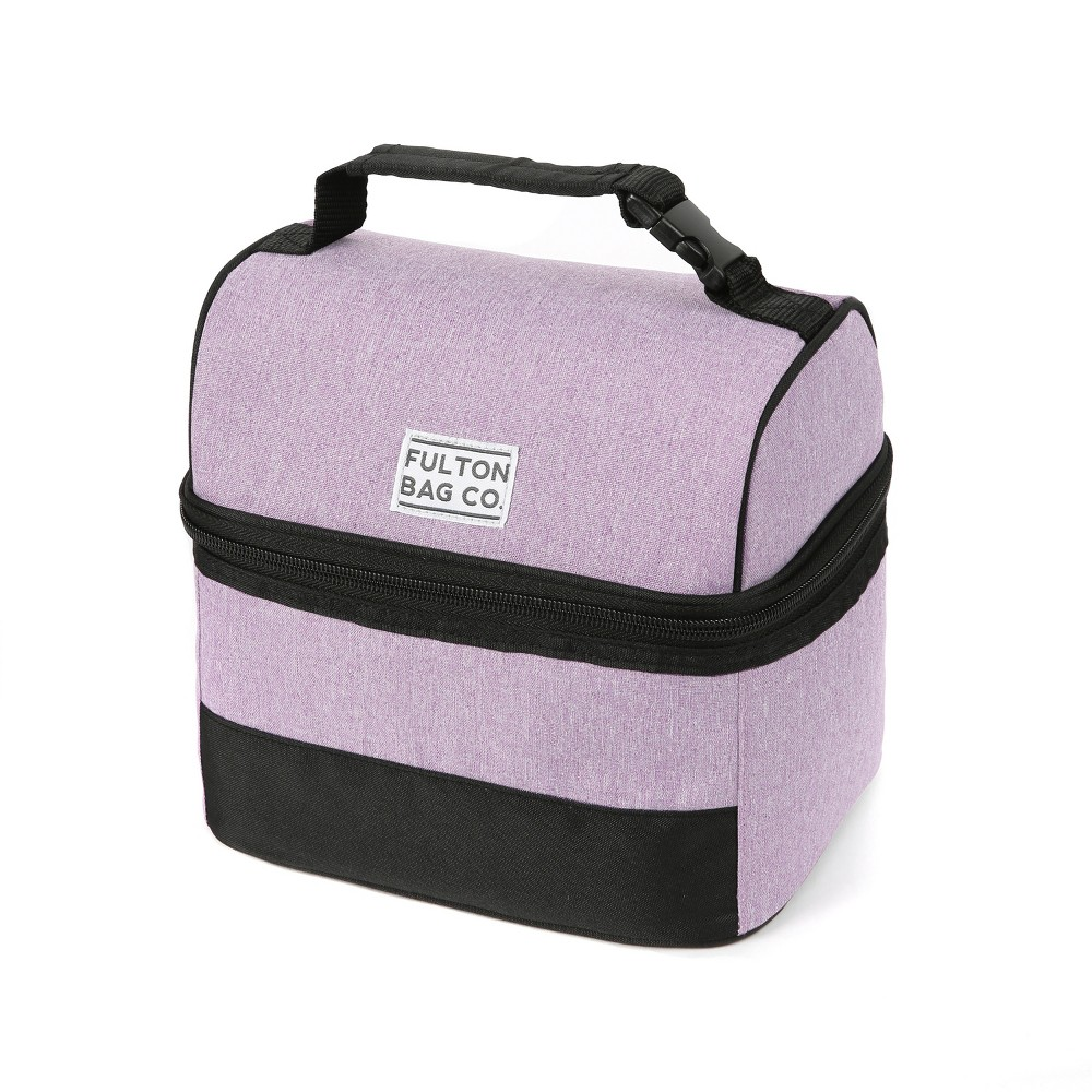 Image of Fulton Bag Co. Dual Compartment Lunch Bag - Lavender
