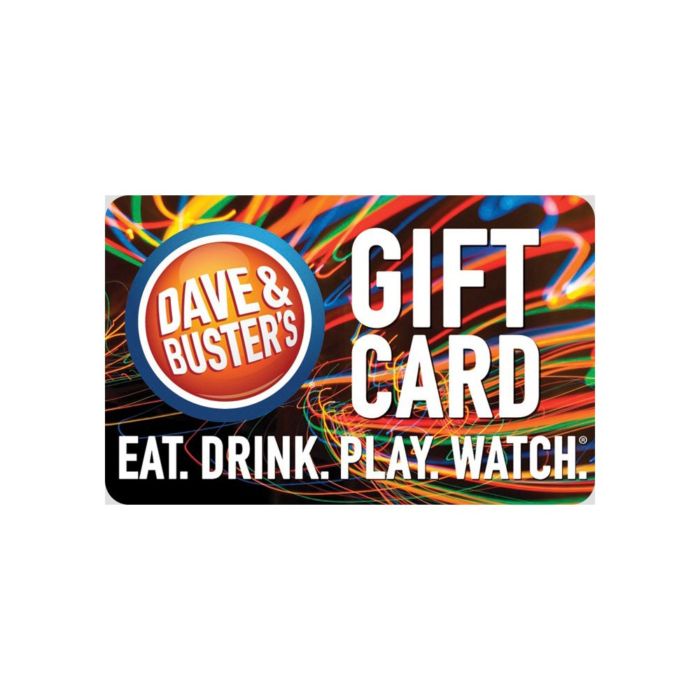 Dave and Busters $25, Retail and Experience Gift Cards