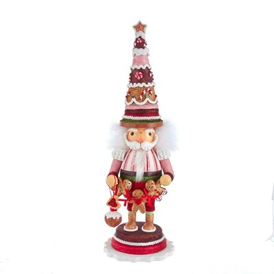 "Kurt Adler 17.5"" Hollywood Gingerbread Tree Hat Nutcracker"
