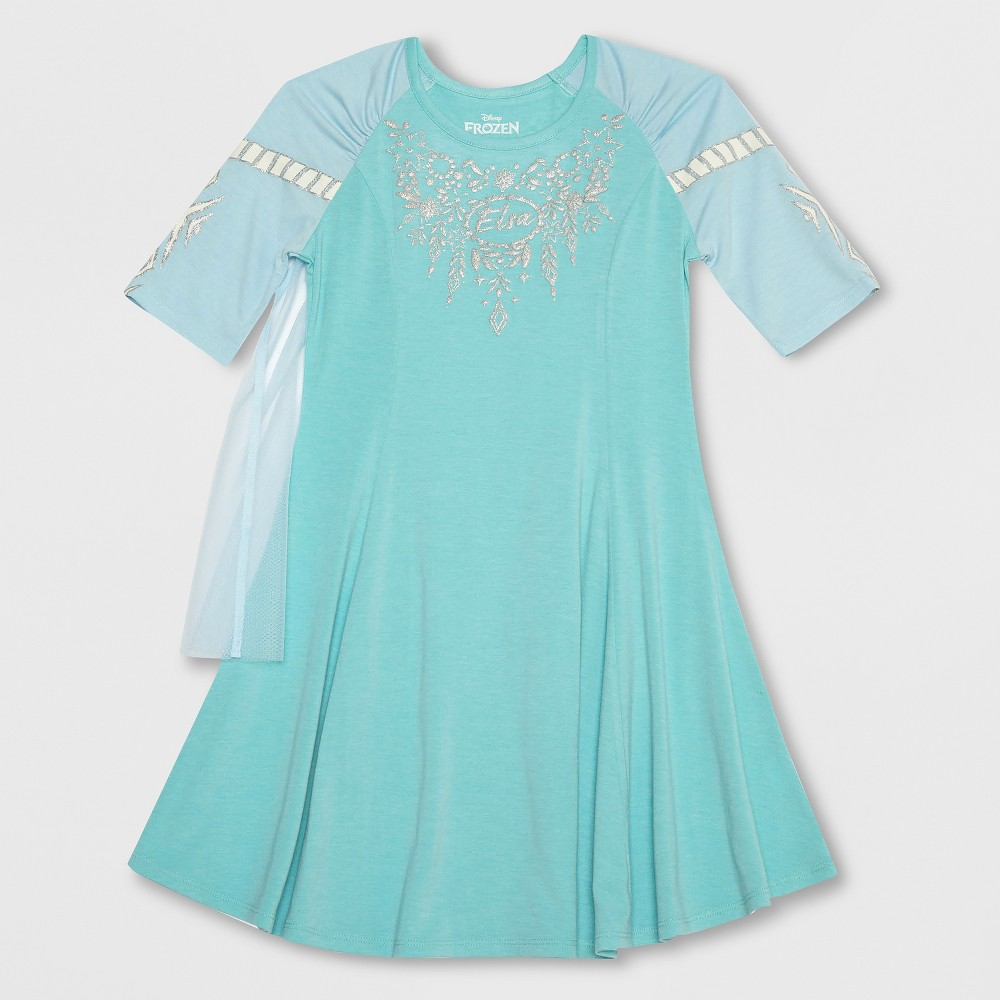 Girls' Frozen Elsa Costume Dress - Aqua Blue XS
