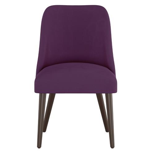 Geller Modern Dining Chair Purple, Purple Dining Room Chairs