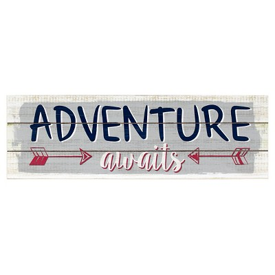 Adventure Awaits Plank Art - Pillowfort™