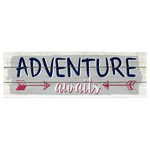 Adventure Awaits Plank Art - Pillowfort™ - image 1 of 2