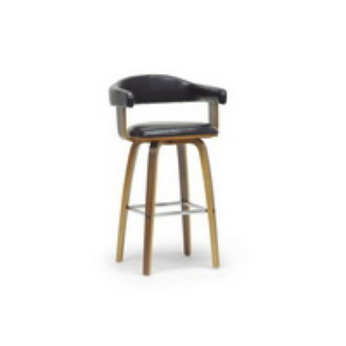 Quigley and Modern Counter Stool Black/ Brown - Baxton Studio - image 1 of 4