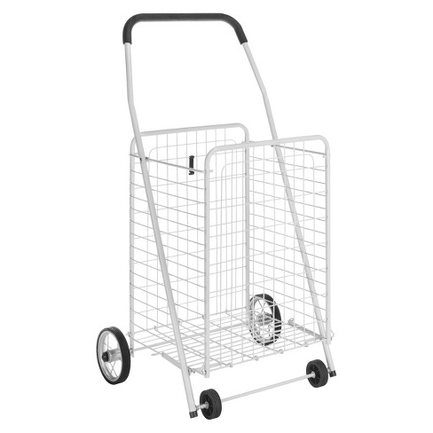 f65d2f22fa3f Whitmor Utility Shopping Cart - White