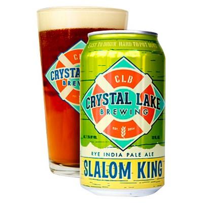 Crystal Lake Slalom King Rye IPA Beer - 6pk/12 fl oz Cans