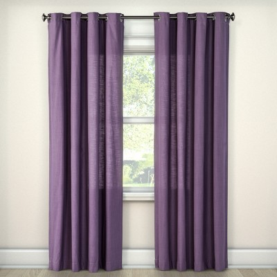 Natural Solid Curtain Panel Plum (54 x84 )- Threshold™