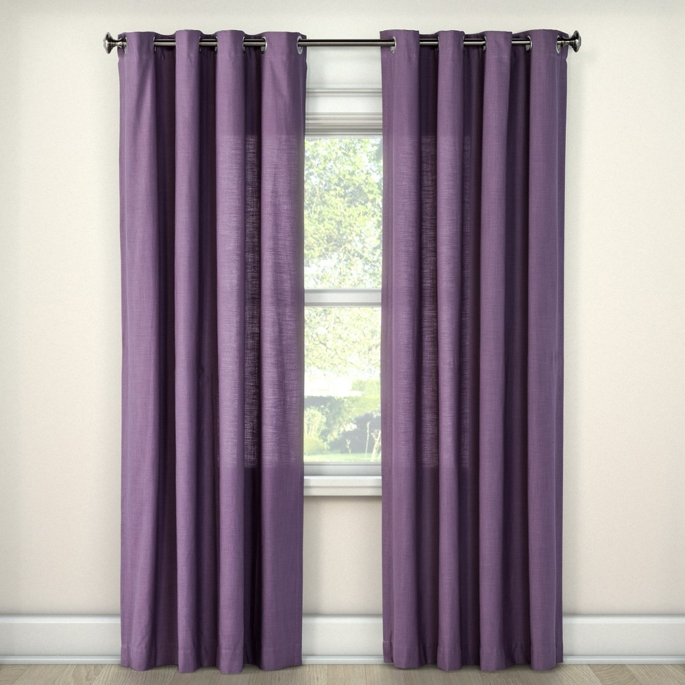 108x54 Natural Solid Light Filtering Curtain Panel Purple - Threshold was $31.99 now $15.99 (50.0% off)
