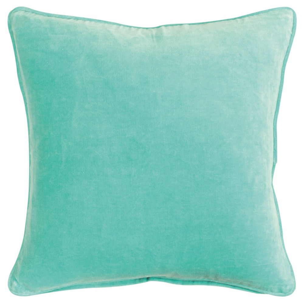Image of Connie Post Poly Filled Pillow Solid Aqua - Rizzy Home, Blue