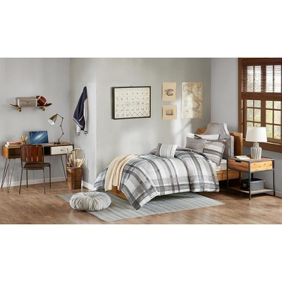Slate Plaid Dorm Room Collection