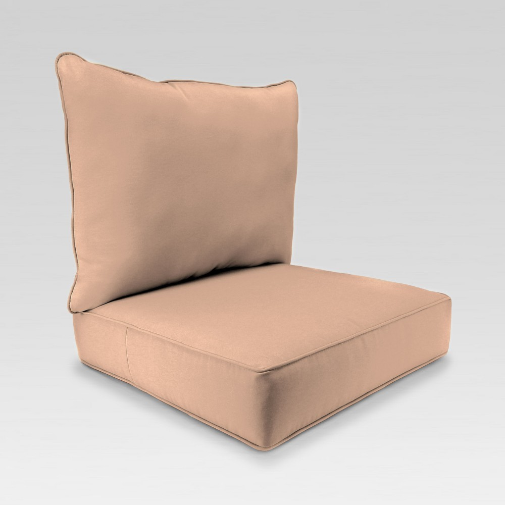 Image of 2pc Deep Seat Chair Cushion - Warm Beige - Jordan Manufacturing