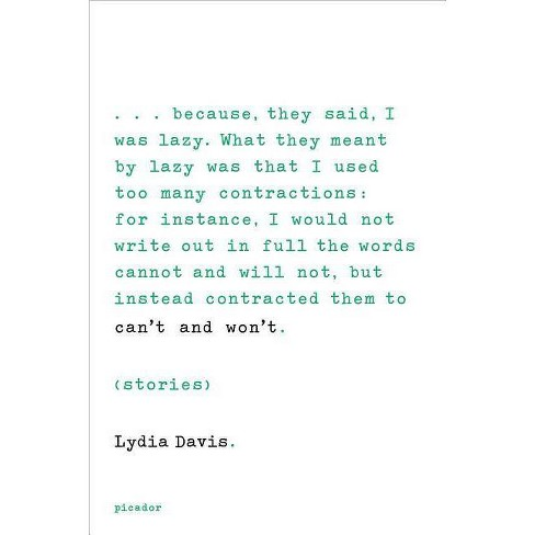Can't and Won't - by  Lydia Davis (Paperback) - image 1 of 1