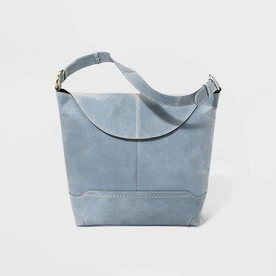 Bolo Elaina Snap Flap Closure Shoulder Bag - Gray