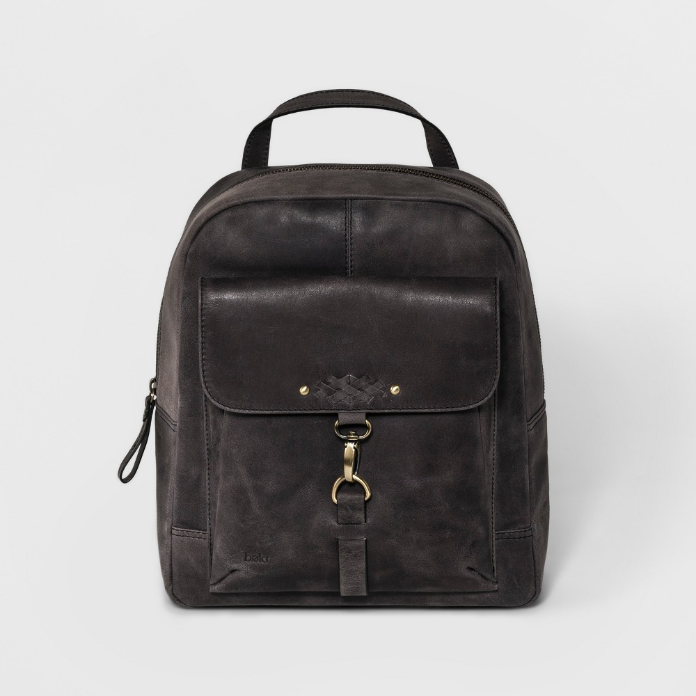 Women's Bolo Distressed Backpack - Black