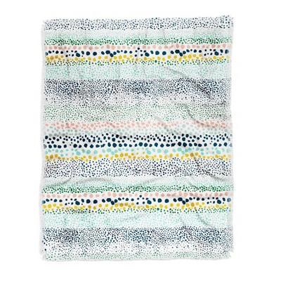 Ninola Design Little Dots White Woven Throw Blanket Blue - Deny Designs