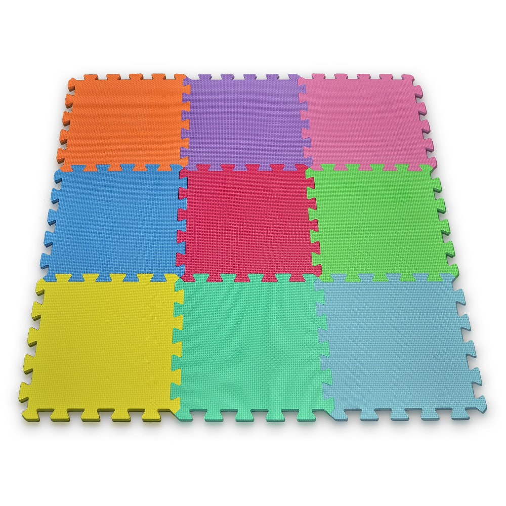 Matney Foam Play Mat Set Puzzle - 9 Tile Pc, Multi-Colored