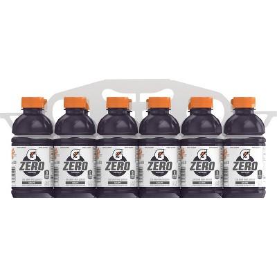 Gatorade G Zero Grape Sports Drink - 12pk/12 fl oz Bottles