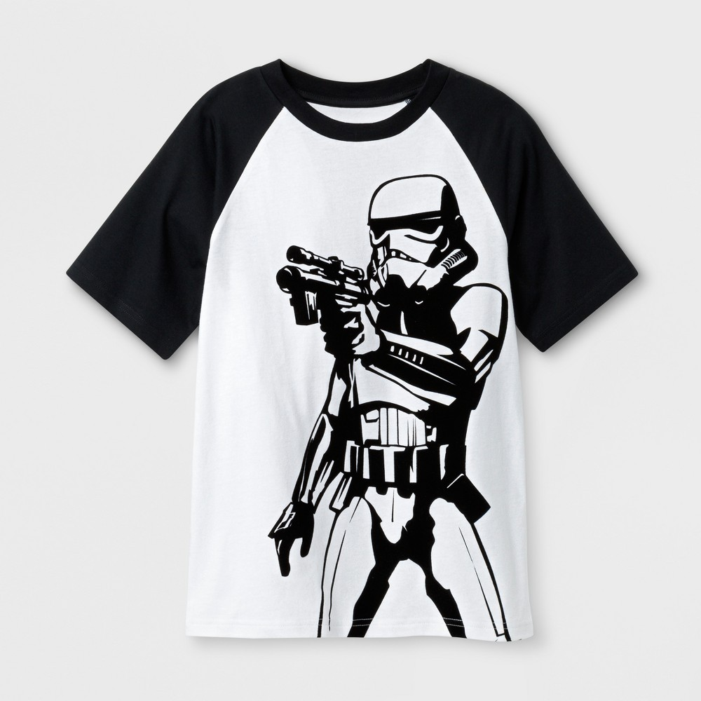 Boys' Star Wars Stormtrooper Short Sleeve T-Shirt - White M