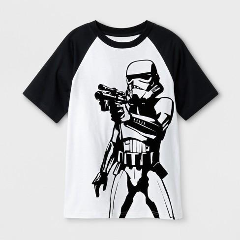 1dbe6d94593 Boys  Star Wars Stormtrooper Short Sleeve T-Shirt - White   Target