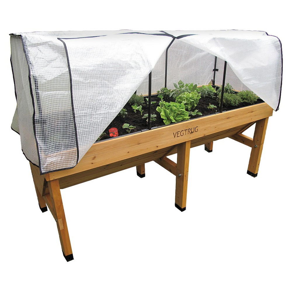 Image of VegTrug Small Wallhugger Greenhouse Frame and PE Cover, White
