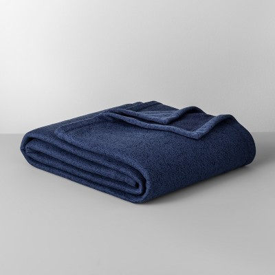 Solid Sweater Fleece Blanket (Full/Queen)Blue - Made By Design™