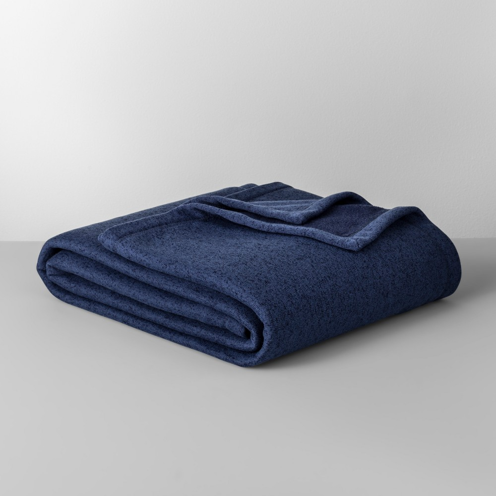 Solid Sweater Fleece Blanket (Twin) Blue - Made By Design