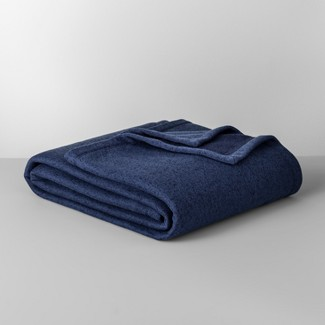 Solid Sweater Fleece Blanket (Twin) Blue  - Made By Design™