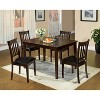 miBasics Lincoln 5pc Dining Set in Espresso - image 2 of 3