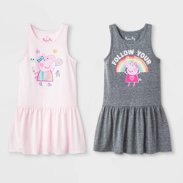 Toddler Girls' Peppa Pig 2pk Sleeveless Dress - image 1 of 1