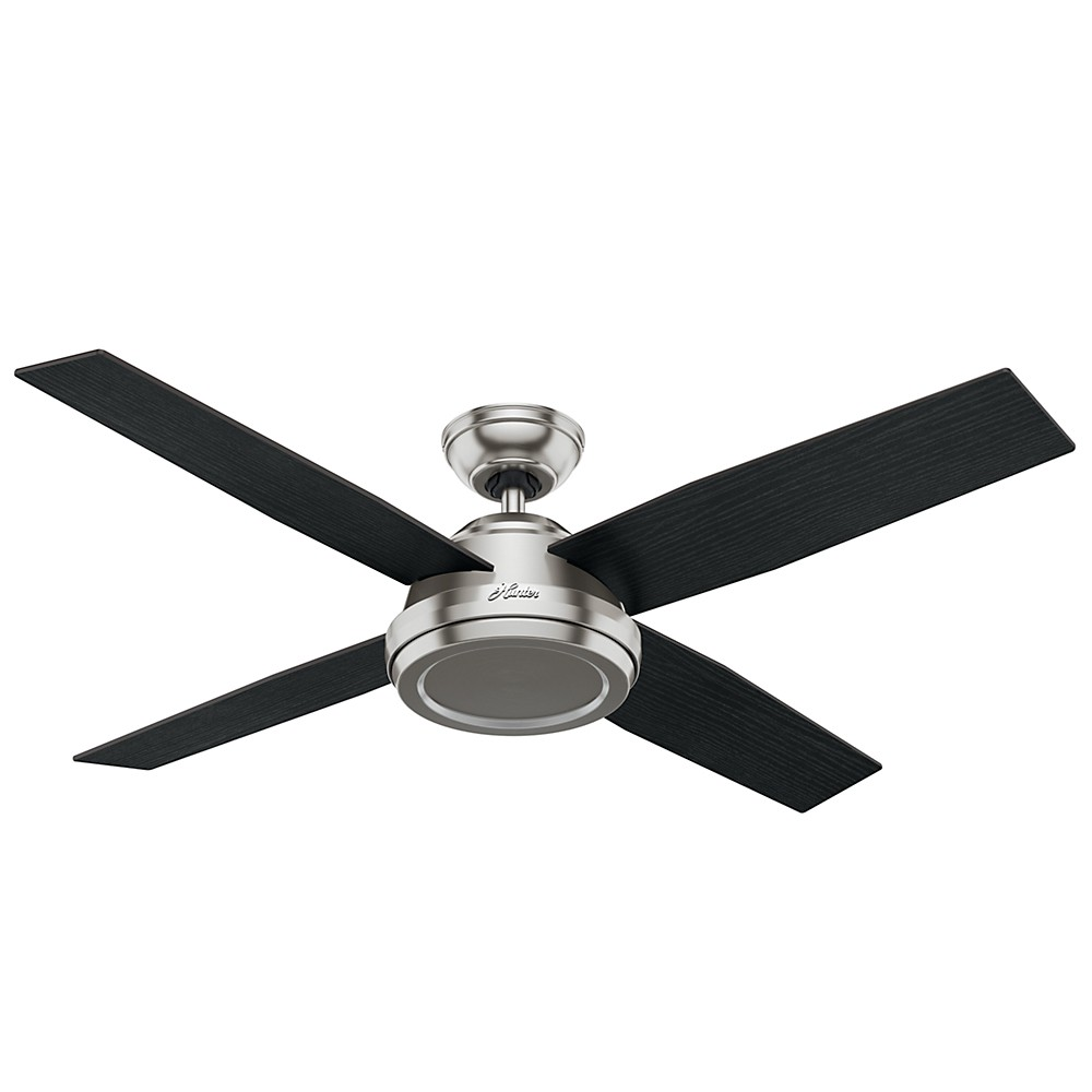"""Image of """"52"""""""" Dempsey Brushed Nickel Ceiling Fan with Handheld Remote - Hunter Fan"""""""