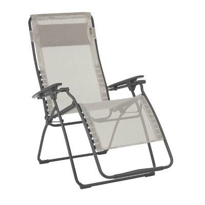 Lafuma Futura XL Zero Gravity Outdoor Steel Framed Lawn Recliner Chair, Seigle